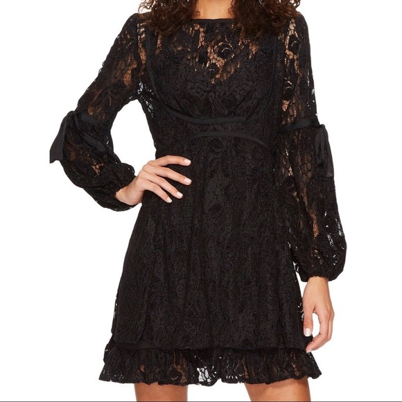 ba9f3e6c8c9a5 Free People Ruby Lace Dress With Tie Sleeves